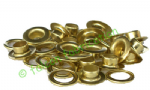 50 x Self cutting solid brass eyelets